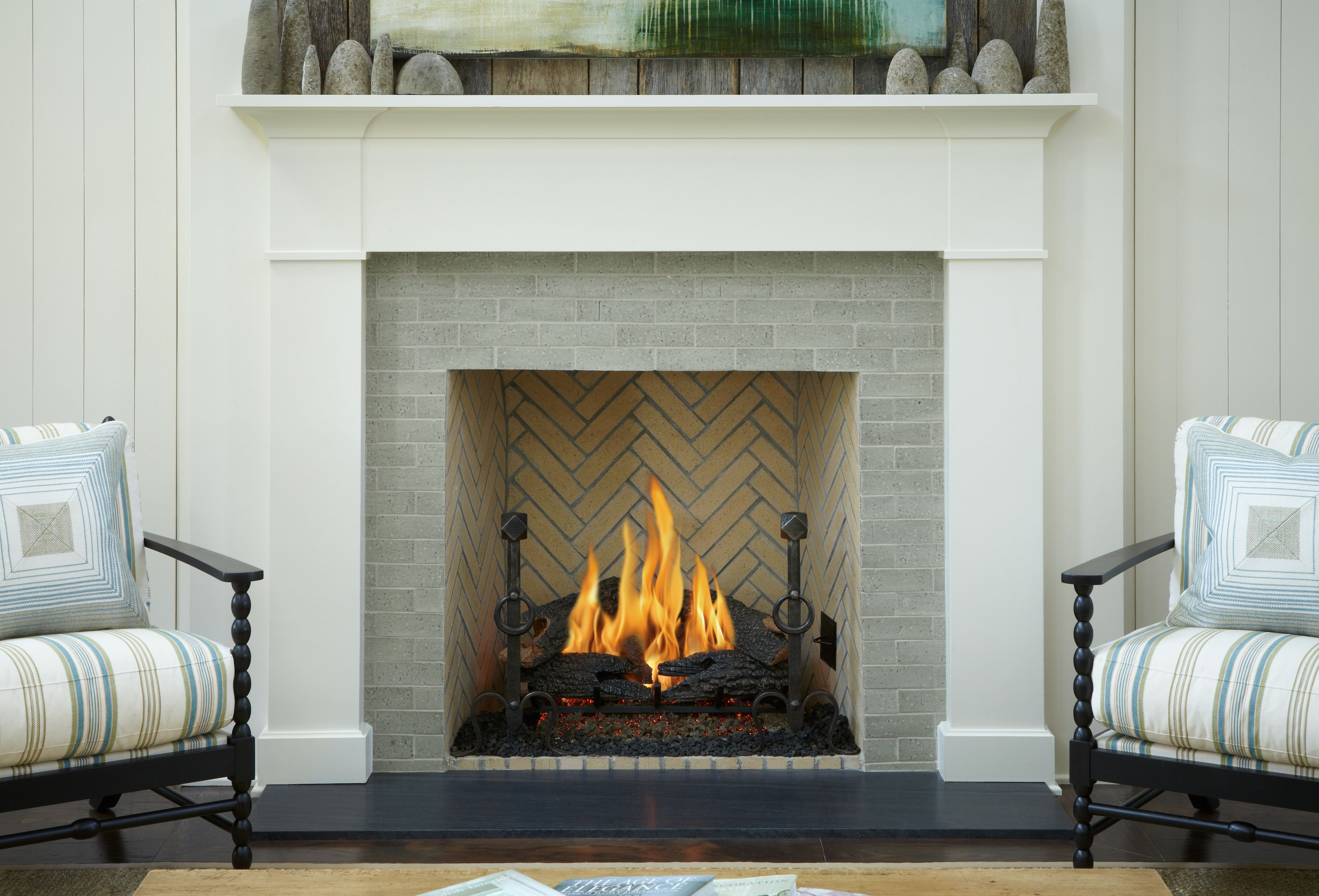 Fireplace Surround That Feels Clean Classic And Warm All At The Same Time Ann Sacks