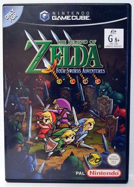 Zelda Four Swords Adventures Nintendo Gamecube Complete Tested