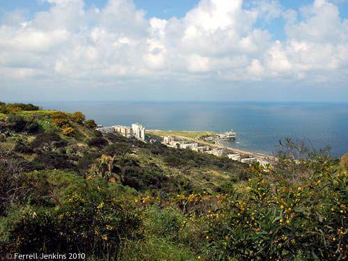 El mar desde el Monte Carmelo (Israel)