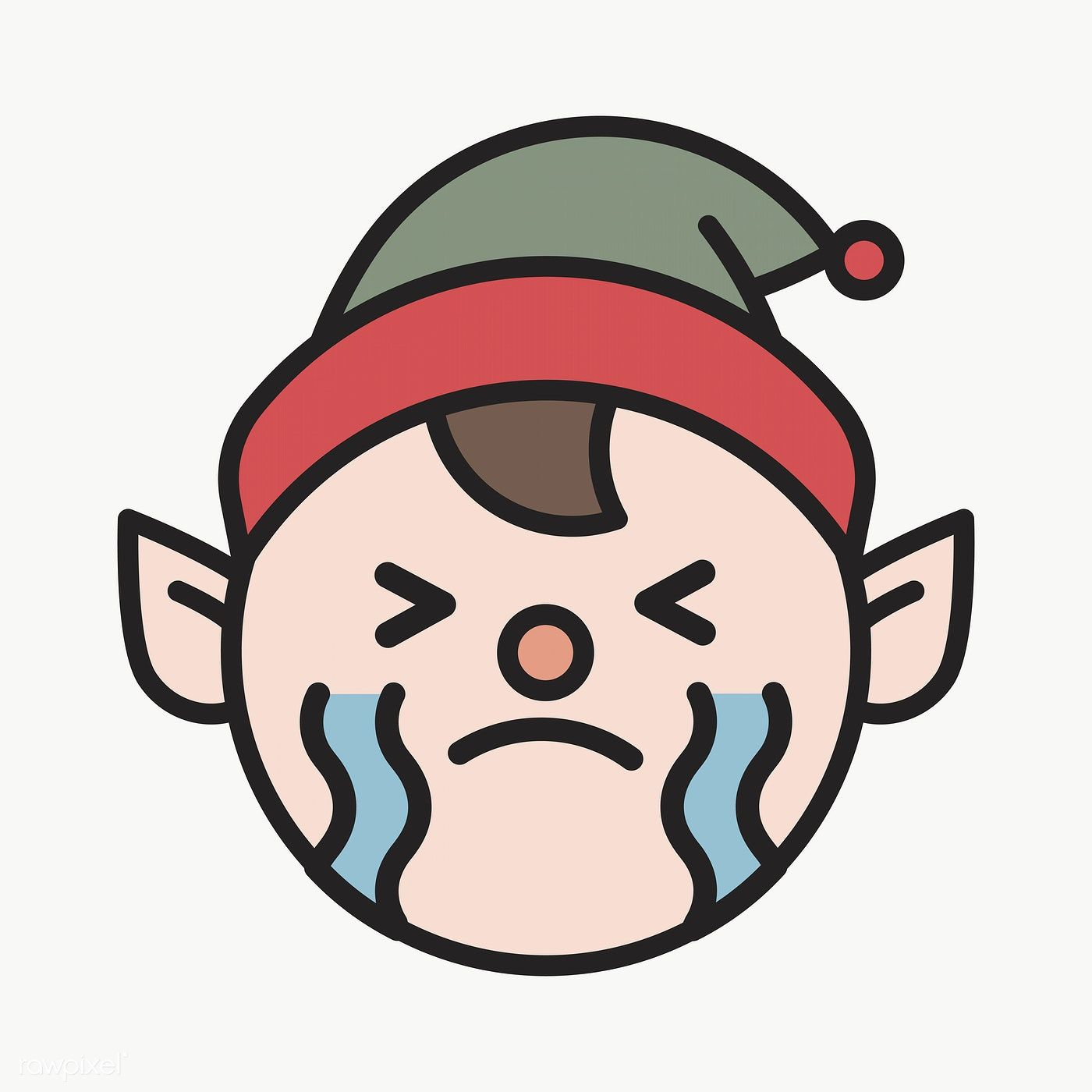 Elf Crying Emoticon On Transparent Background Vector Premium Image By Rawpixel Com Wan Vector Background Pattern Background Patterns Emoticon
