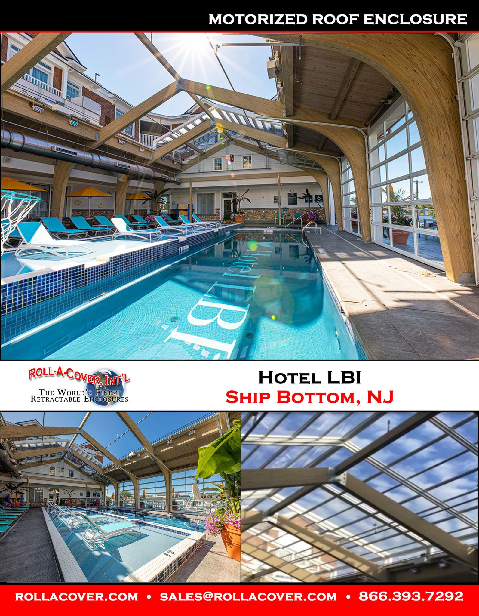Hotel Lbi Retractable Skylight Manufactured By Roll A Cover With