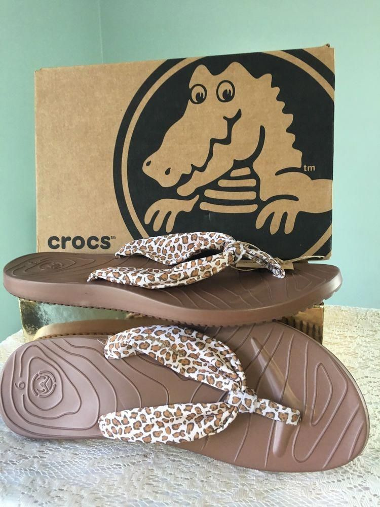 bcb36ce44622 Ocean Minded by Crocs Wave Seeker Womens Animal Print Flip Flops Sandals  Rubber #Crocs #FlipFlops #Casual #flipflopsWomens