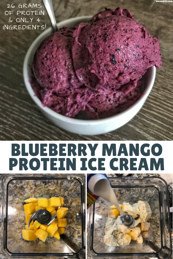 Save your time, money, and energy with this 4-ingredient protein ice cream recipe. It's creamy, delicious, and packed with 26 grams of protein per bowl! #proteinicecream