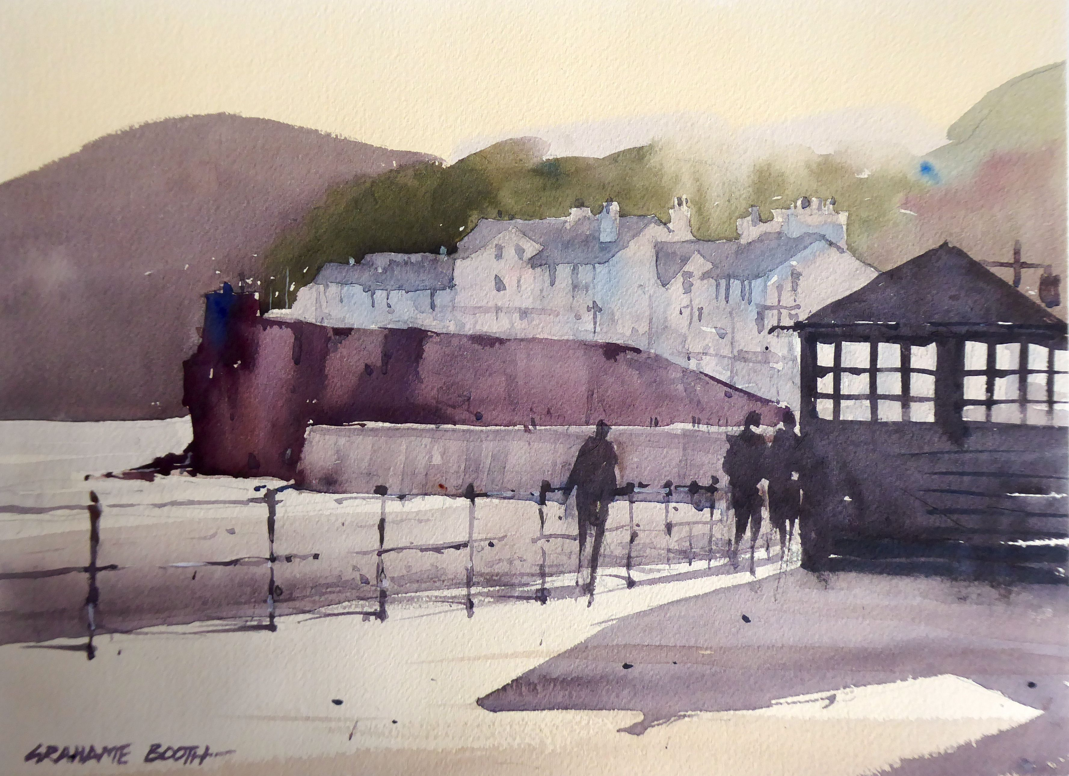 Sidmouth Sunshine Painting Workshop Watercolor Art