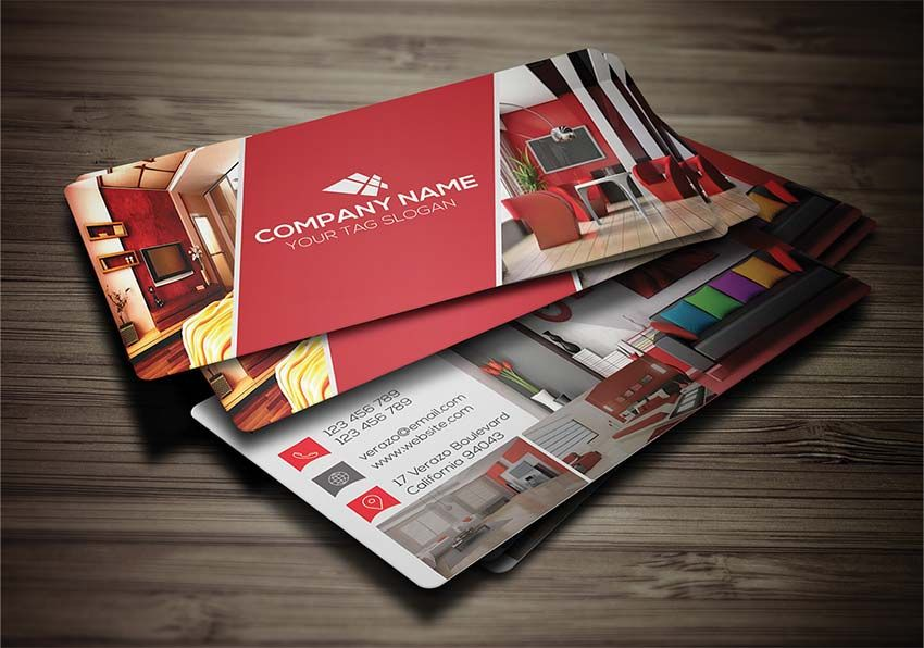 Free interior business card psd business card mockup psd here are the best free business card templates psd in photoshop format for designer and print ready design the business card is a very simple yet very reheart Choice Image