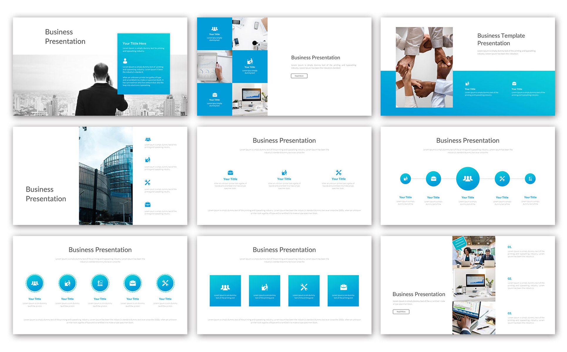Big Business - Clean PowerPoint Template #76820 | Poster