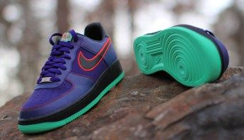 hot sale online 5c40e 13057 Nike Air Force 1 Low  Green Glow, Court Purple   Uni Red