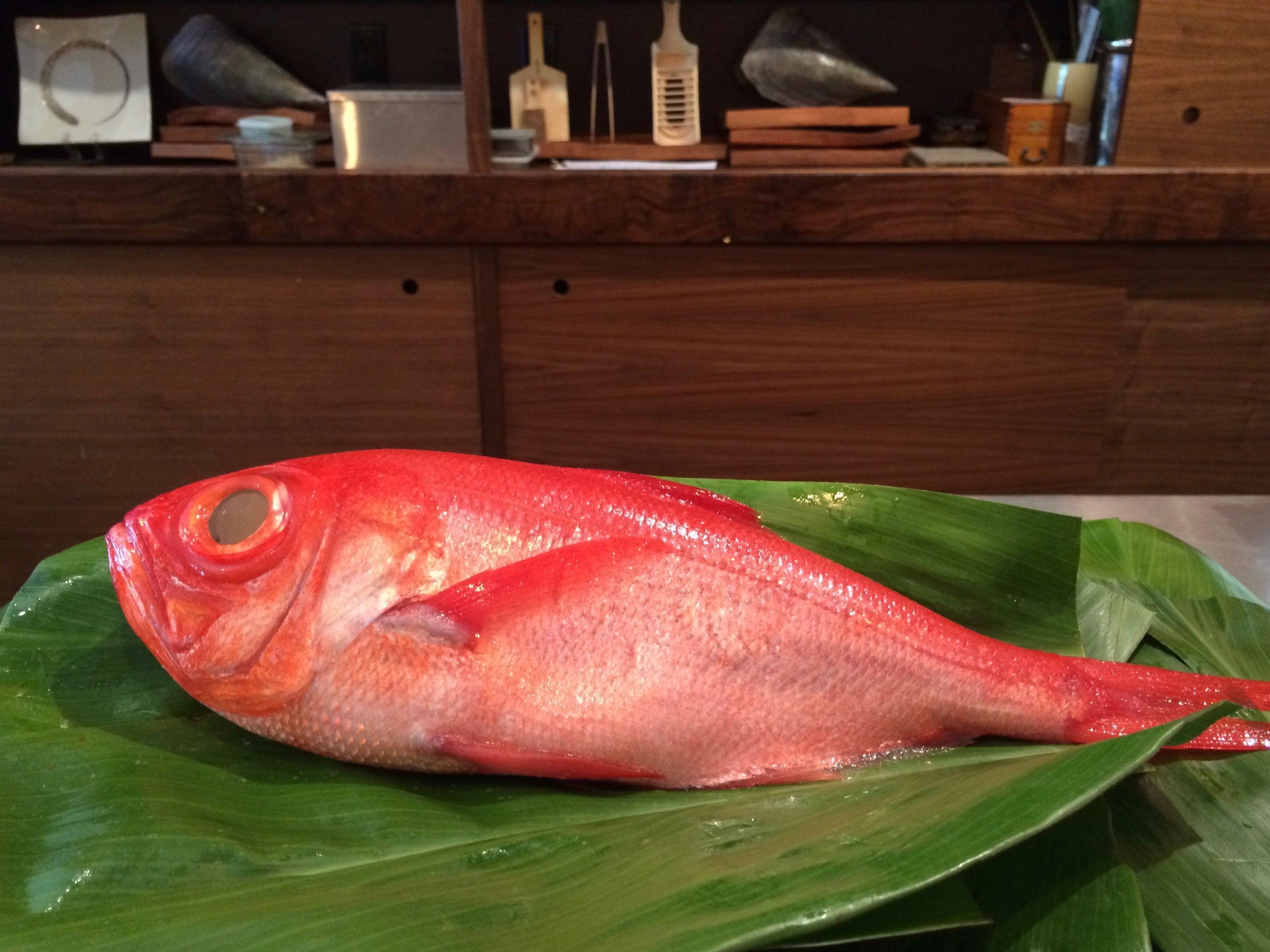 Kinmedai Aka Golden Eye Snapper Sometimes It S Best Lightly Seared Vegetarian Menu Vegetarian Omakase