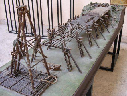 Model of Caesar's Rhine Bridge