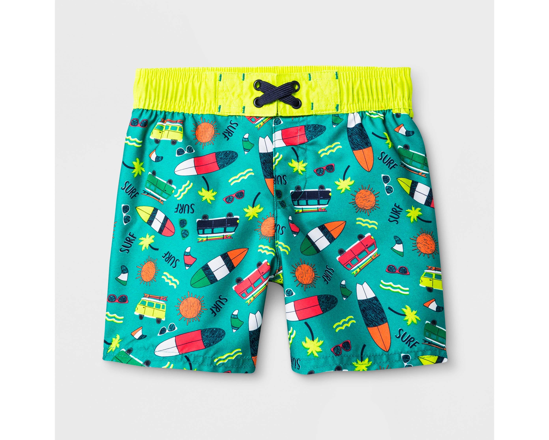 f24c1ead9 Toddler Boys' Tropical Trees Swim Trunks - Cat & Jack Black 2T   Products  in 2018   Toddler boys, Swim trunks, Jack black