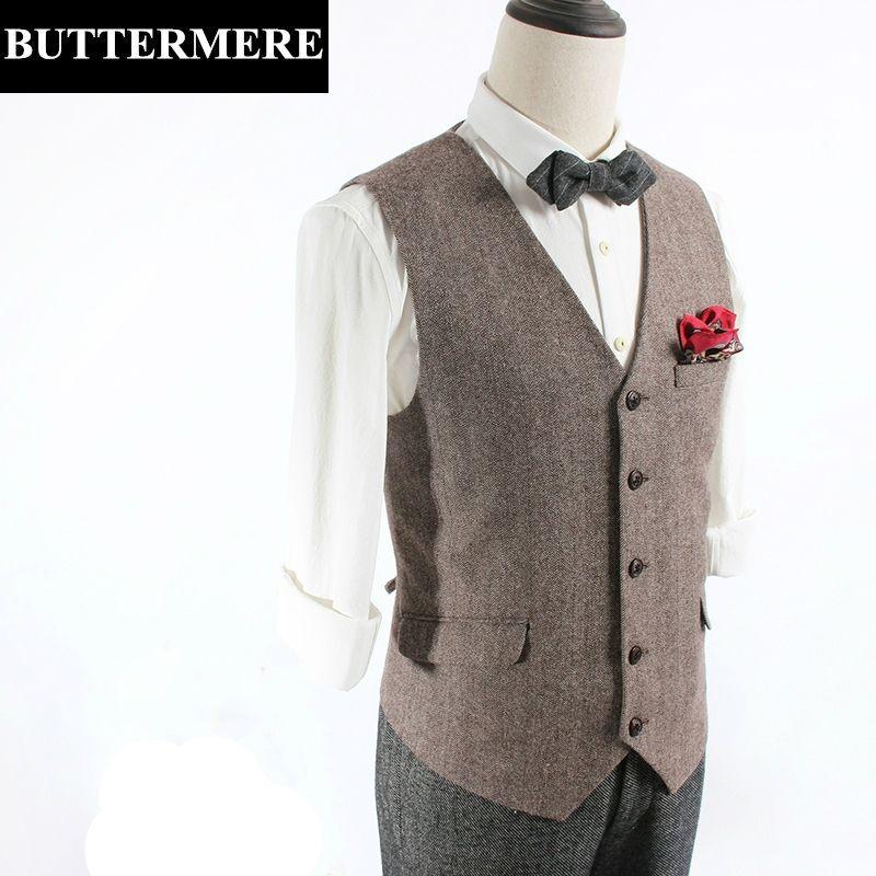 bon marché sélectionner pour dernier rechercher l'original Chevrons Gilet Hommes Tweed De Laine Gilet Vintage Costume ...