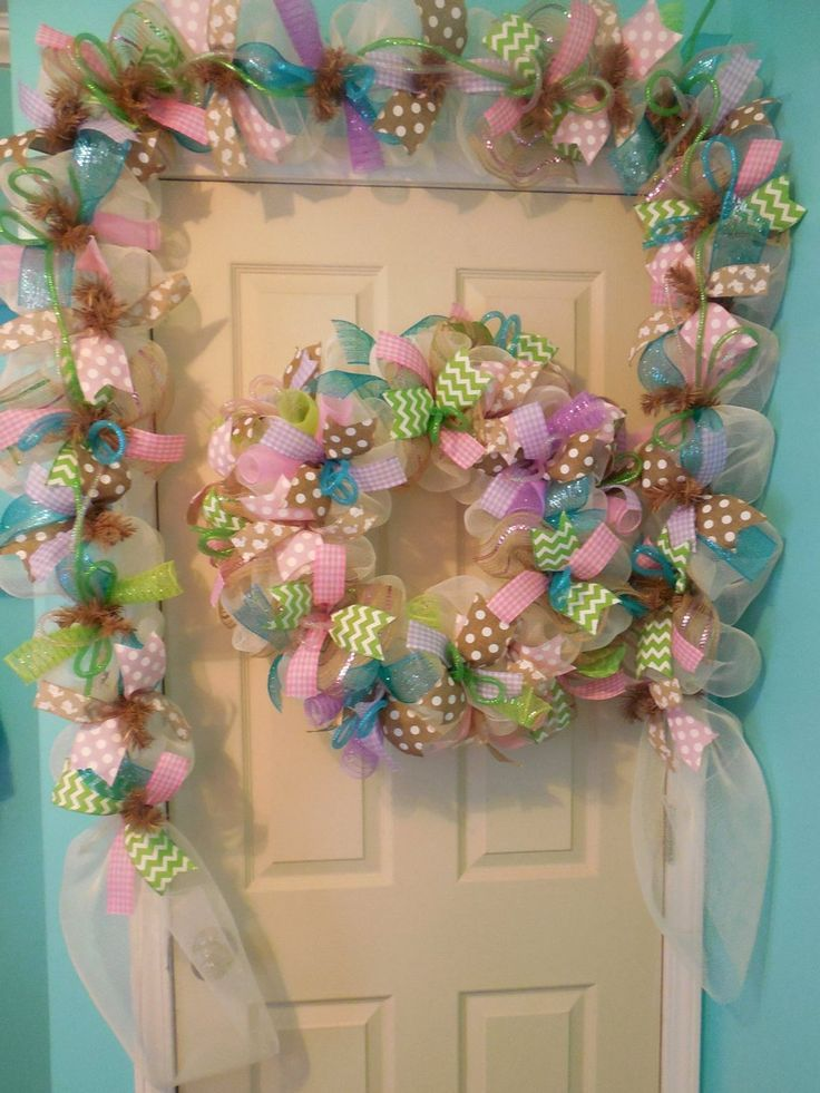 Easter Garland, Door Garland, Hearth Garland, Easter wreath, wreaths, wreath, Easter wreaths,Garland, double door - #Door #double #Easter #Fireplace #Garland #Wreath #wreaths #wreathsGarland #doubledoorwreaths