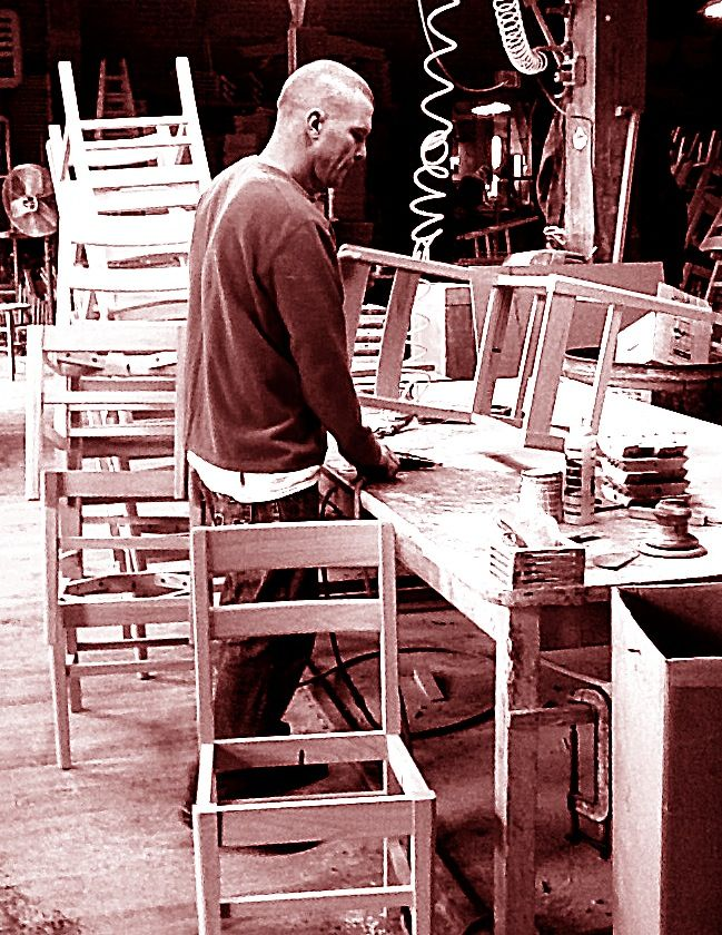 Georgia Chair Company Folding Parts Finishing Each By Hand Gainesville Ga