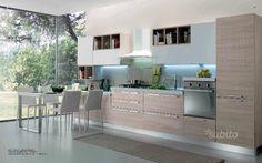 Cucina Lineare Cm 390 Con Tavolo Estraibile Arredamento Design Cucine Tavolo Estraibile