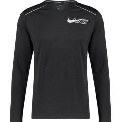Photo of Nike Men's Running Shirt Long Sleeve Dri-Fit Miler Ls Flash, Size M In Black / reflective Silv, Size M