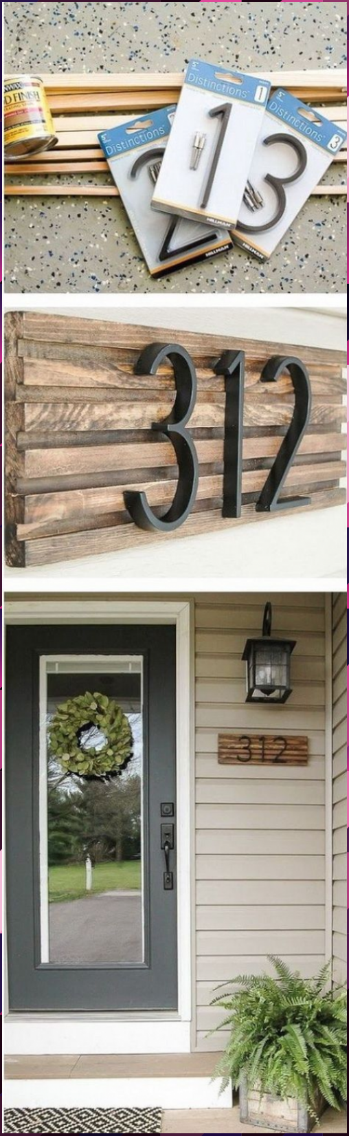 Photo of DIY rustic house number sign. House numbers give your home a perfect look while …