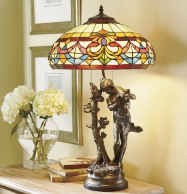 Water bearer stained glass lamp from seventh avenue