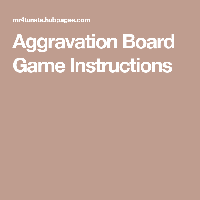 Aggravation Board Game Instructions Aggravation Board Game