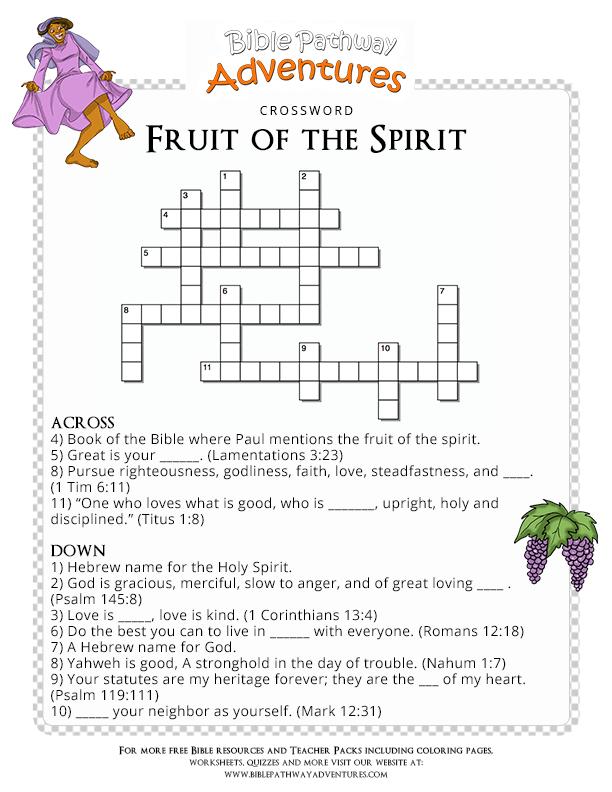 Free Bible Quiz for Kids Fruit of the Spirit   Fruit of ...