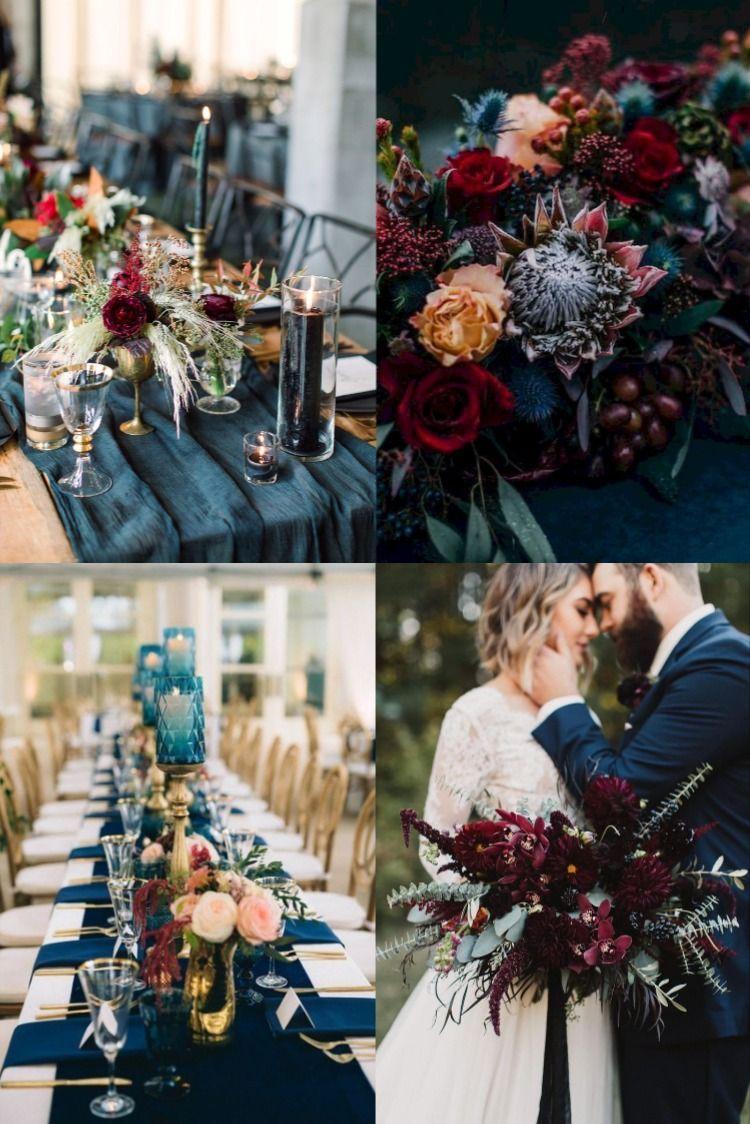 TOP 10 Wedding Color Ideas For 2020 Dark Teal + Burgundy