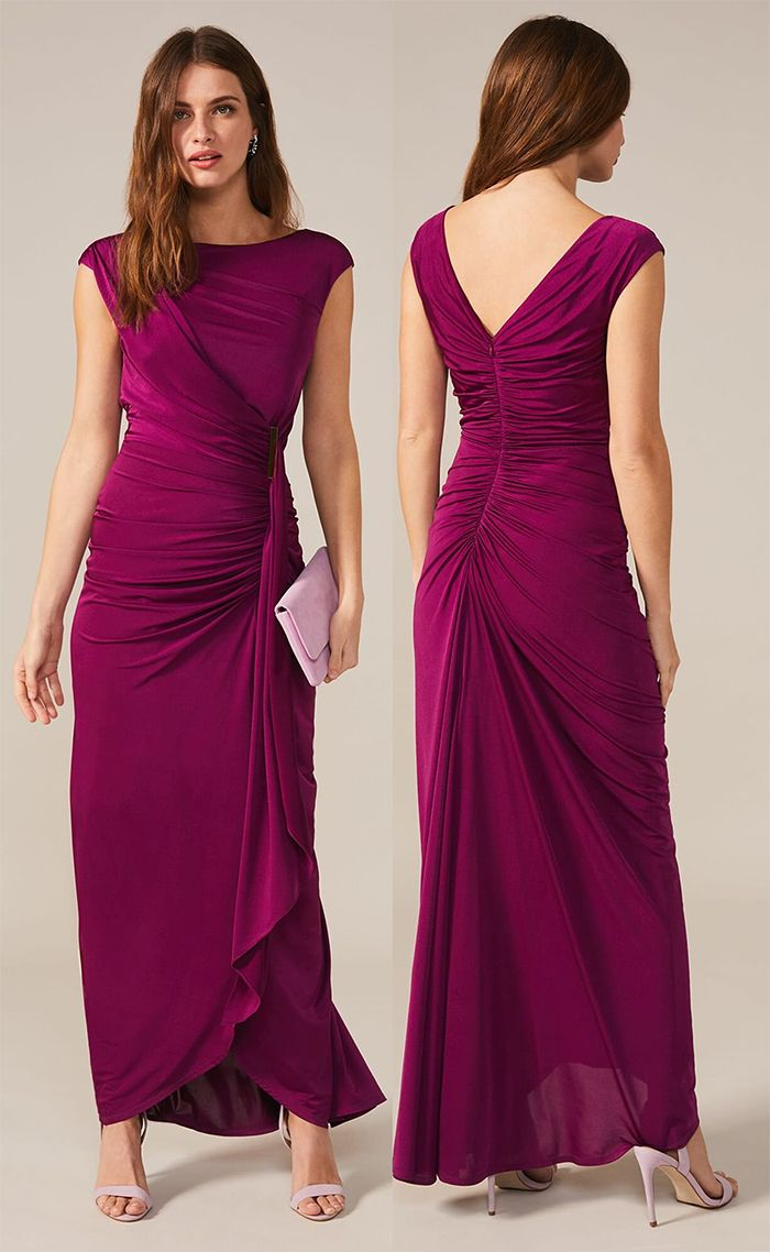 Plum Maxi dress for a Winter Wedding. What to wear to a ...