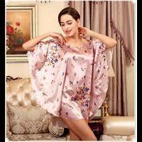 Sexy Silk Bath Robe Women Nightshirt Milk Silk Special Sleep Lounge Ladies  Nightwear Plus Size Sleep Shirt For Sleep Top Pajamas eb107c4b2
