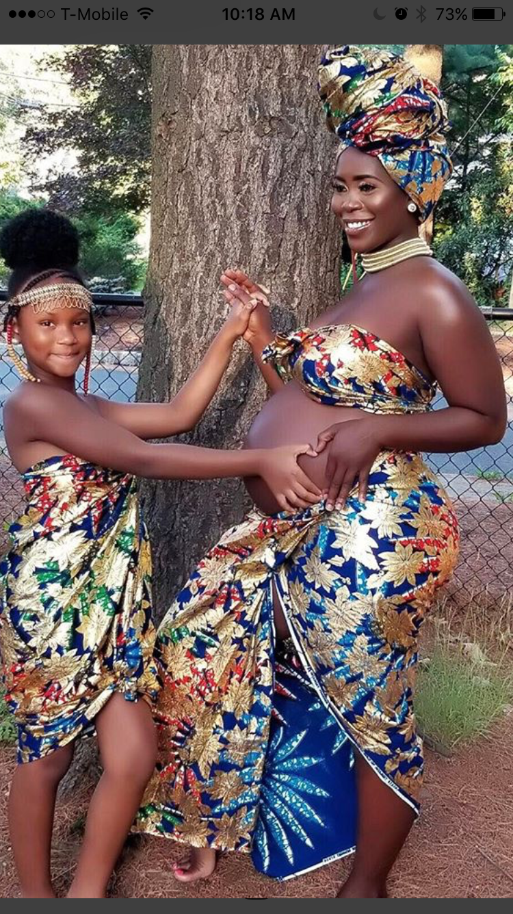 For The Love Of The Culture African Fashion Maternity Clothes Fashionable Beautiful Black Women