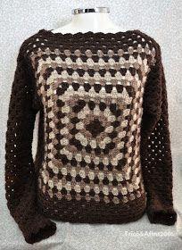 Tricô&Afins: Era uma vez... Dois quadrados de crochê que viraram uma blusa
