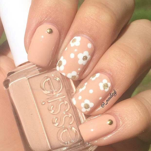 Cute flower nails - Cute Flower Nails If I Was Good At Doing Nails... Pinterest