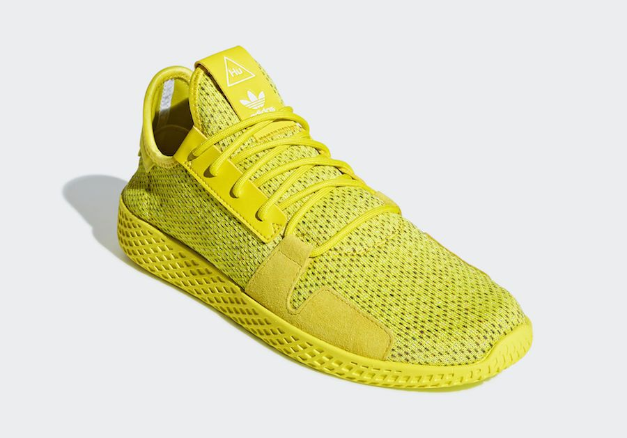 Adidas Tennis Hu V2 Shock Yellow Db3329 True Green Db3328 Release Date Sbd Adidas Tennis Dress With Sneakers Adidas