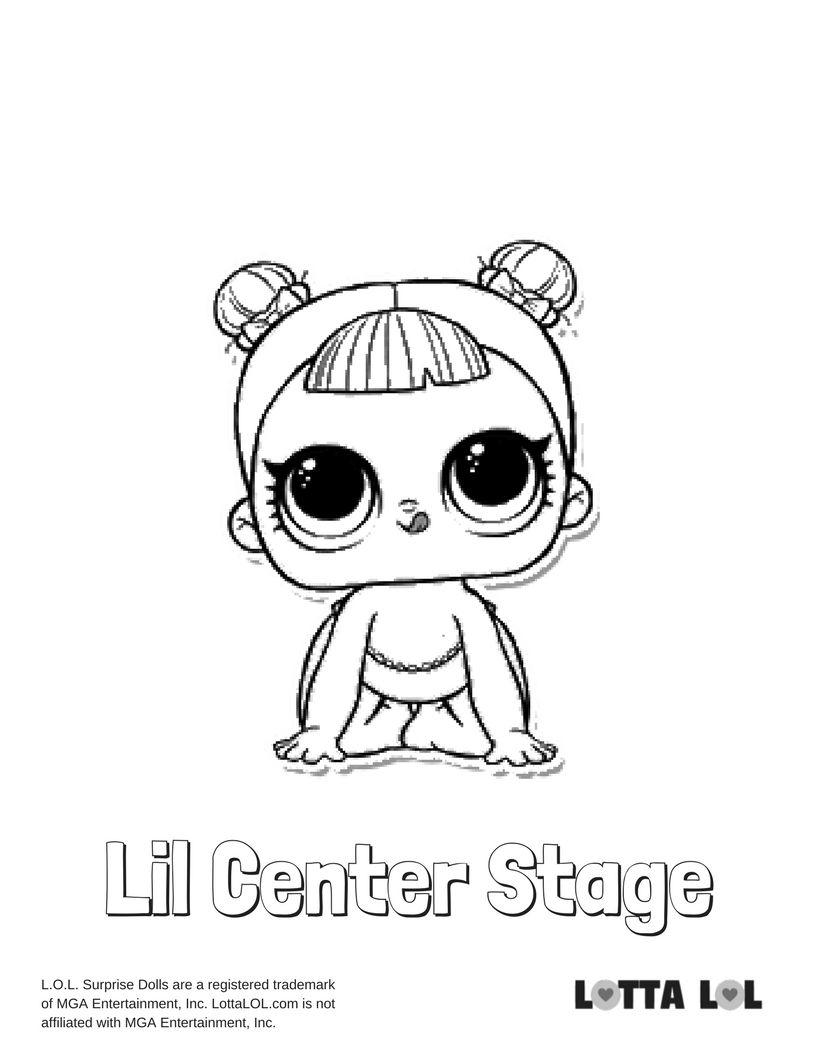 Lil Center Stage Coloring Page Lotta Lol Cute Coloring Pages Lol Dolls Coloring Pages