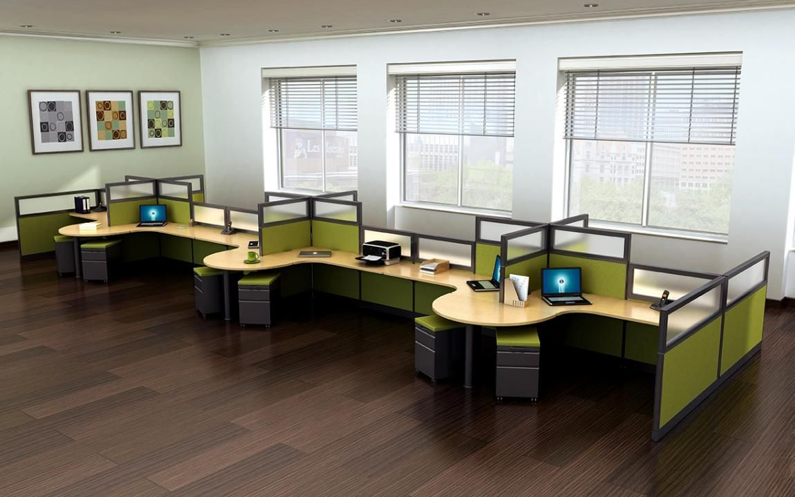12 Person Modular Cubicle Desk System Office Cubicle Design