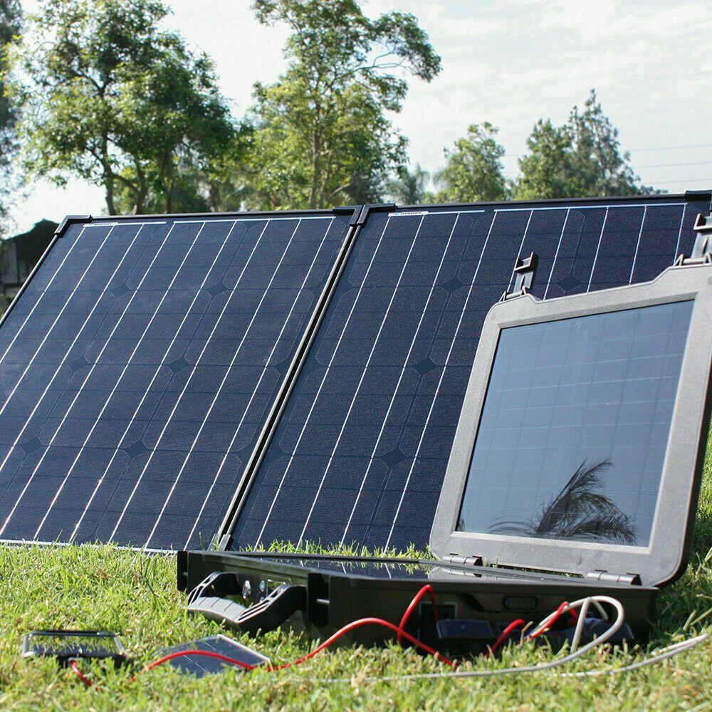 The Phoenix Solar Generator 100 Watt Monocrystalline Foldable Solar Panel Kit Renogy Best Solar Panels Solar Panels Solar