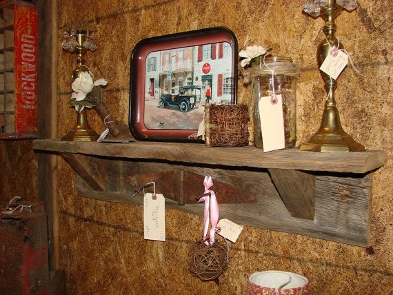 Barn wood Shelf Rustic Shelf Rustic Barn by SouthernBarnDesigns