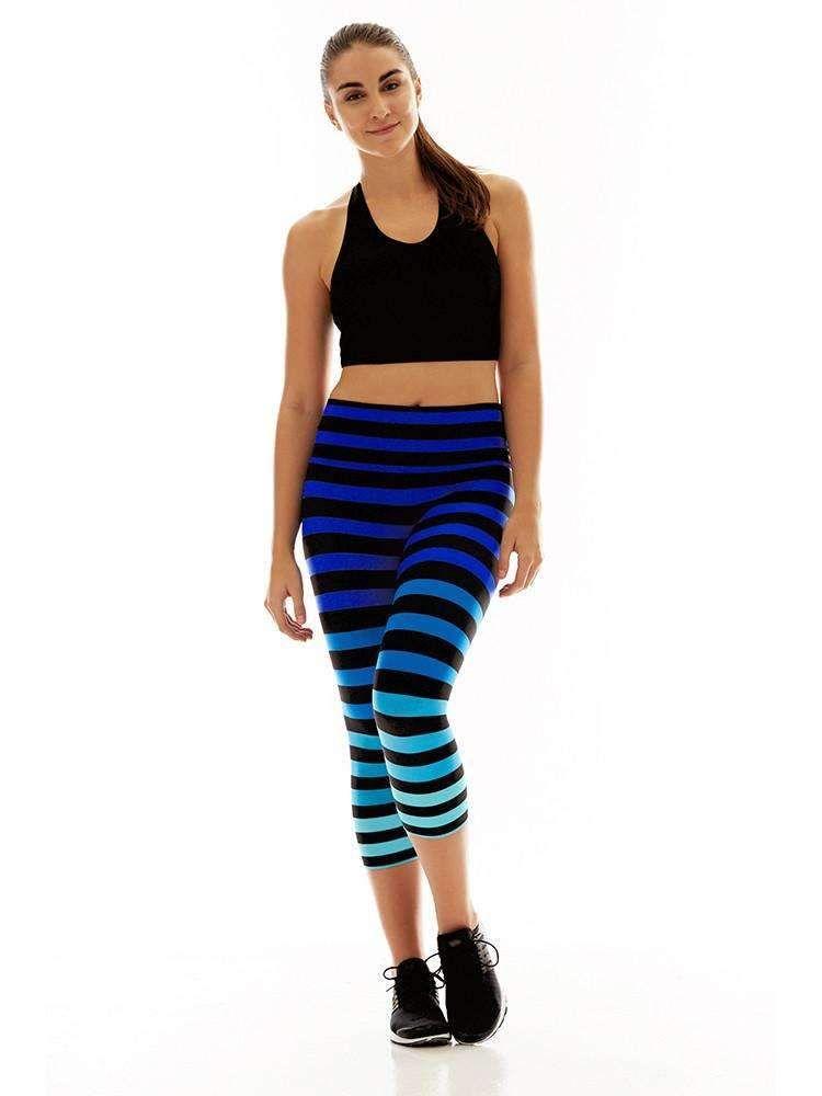 Capri In Alexis Stripe Fashion Women Active Wear