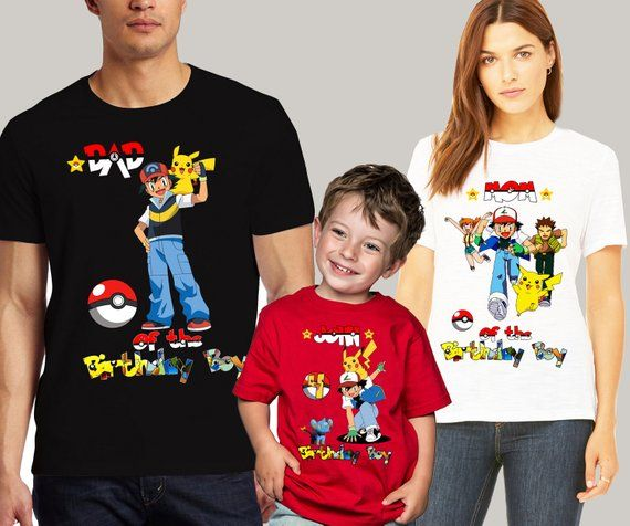 ed90e3f7 Pokemon Birthday Shirt Pokemon Birthday Family Shirts Pokemon Birthday  Party Shirt Pikachu t-shirts