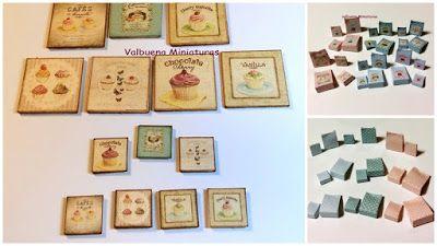 Miniaturas:     Colección de            bolsitas y cuadritos m...