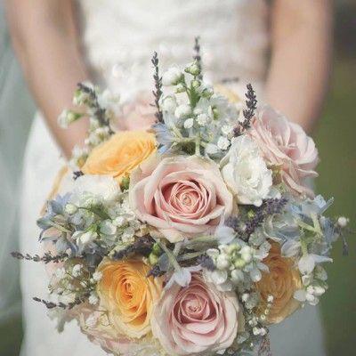 Soft coloured bouquet by Hollie Milburn