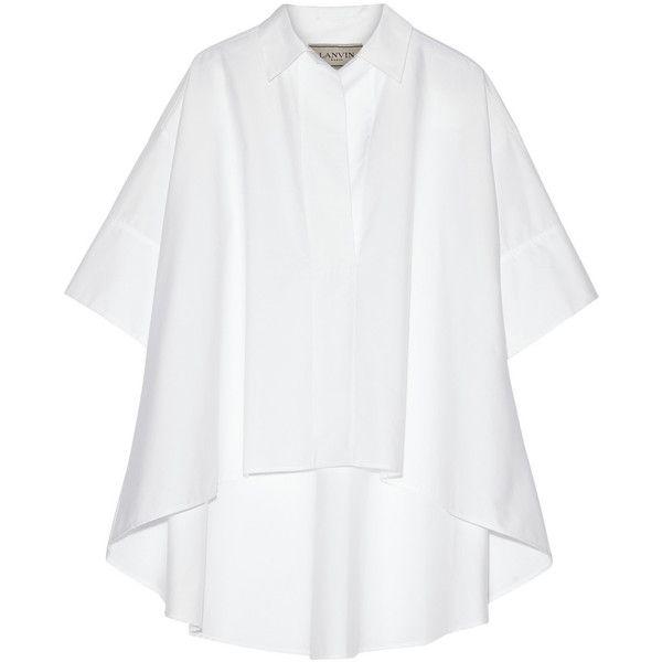 Lanvin Oversized cotton-poplin shirt ($895) ❤ liked on Polyvore ...
