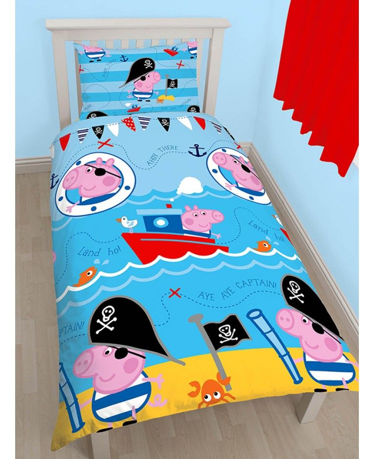 This Pirate Single Duvet Cover and Pillowcase Set