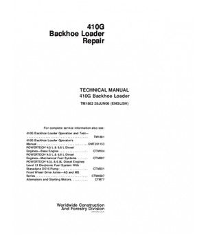 JOHN DEERE 410G BACKHOE LOADER REPAIR SERVICE TECHNICAL MANUAL ... on new holland ts110 problems, new holland specs, new holland parts, new holland repair manual, new holland tools, new holland brakes, new holland skid steer, new holland cylinder head, new holland lights, 3930 ford tractor parts diagrams, new holland drawings, new holland controls, new home wiring diagram, new holland ls190 skid loader, new holland boomer compact tractors, new holland serial number location, new holland service, new holland transmission, new holland serial number reference, new holland starter,