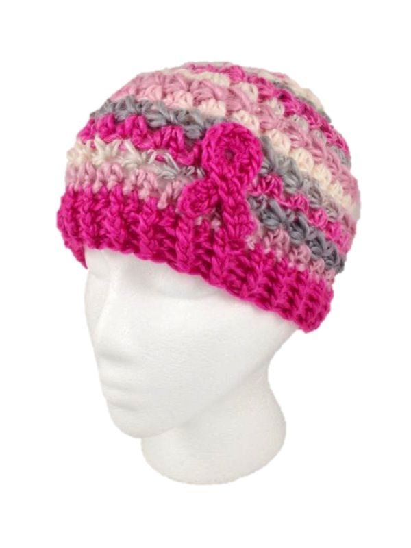 Breast Cancer Beanie Free Pattern Crochet Cancer Awareness
