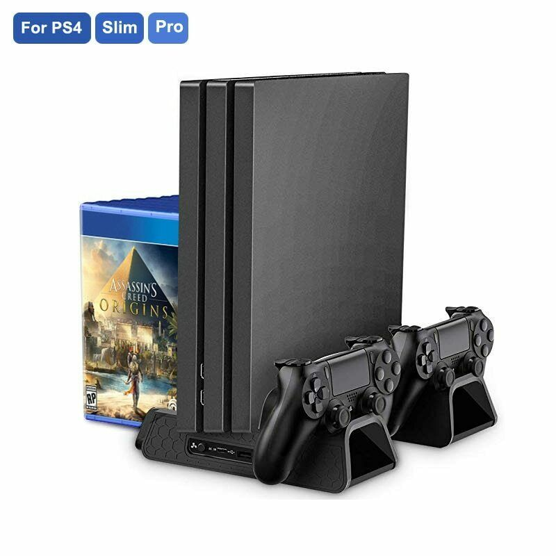 Multifunctional Vertical Cooling Stand Station For Ps4 Ps4 Slim