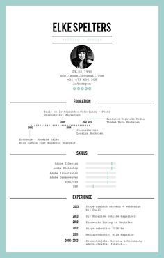 Templates For Curriculum Vitae Personal Resume 排版  Pinterest