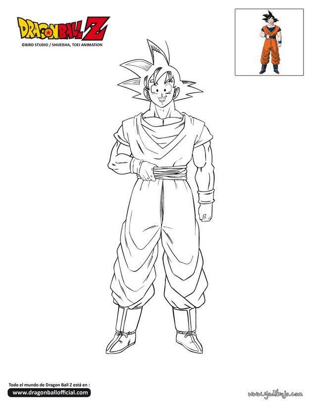 Colorear En Linea Dibujos Como Dibujar A Goku Animales Faciles