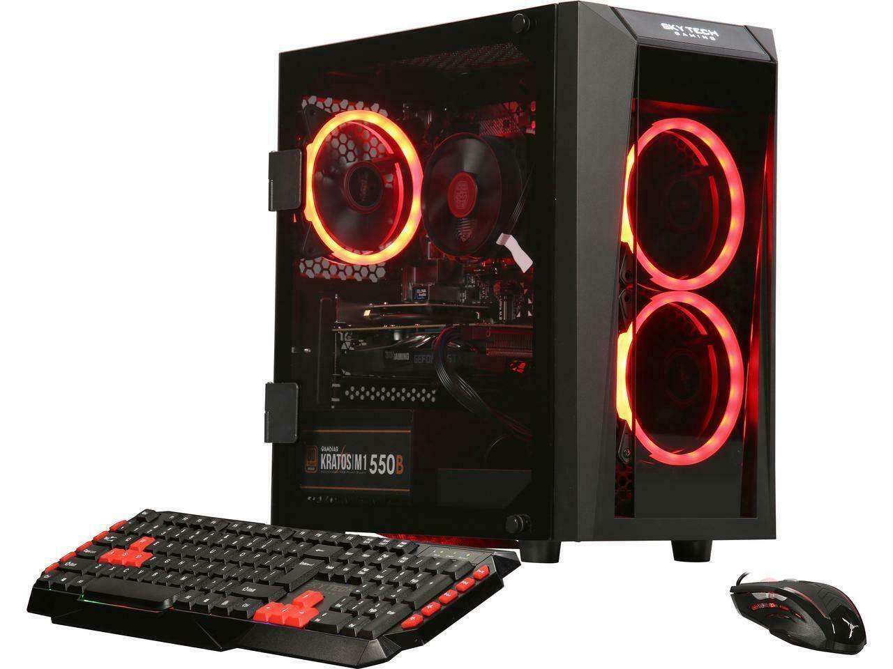 Skytech Blaze Ii Gaming Pc Nvidia Geforce Gtx 1660 Ryzen 5 2600 6 Core 3 40 Ghz The Electronic Spot Gaming Pc Nvidia Affordable Gaming Pc