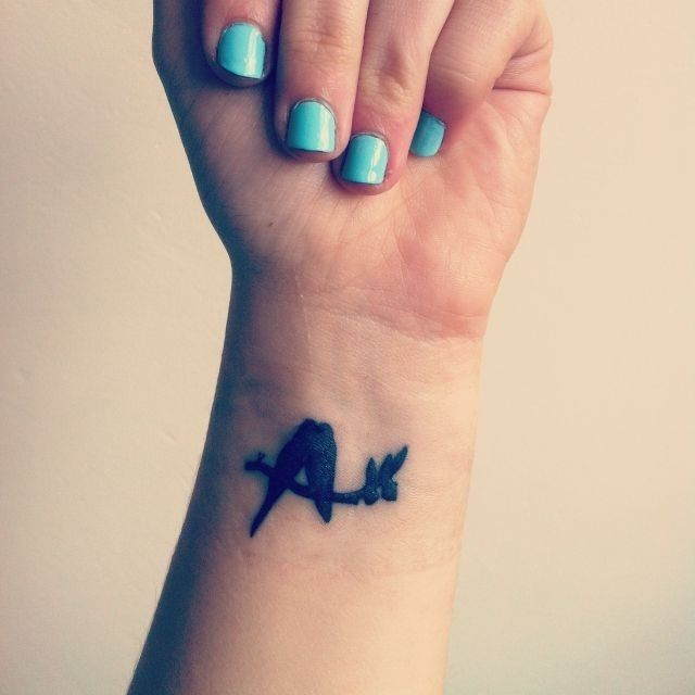 So cute! Little birds. Very coverable, so it probably wouldn't become a regret later :P