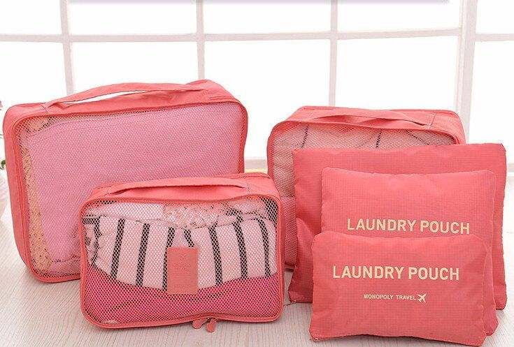 Waterproof Travel Packing Organizer Bags Travel Cubes Fashion