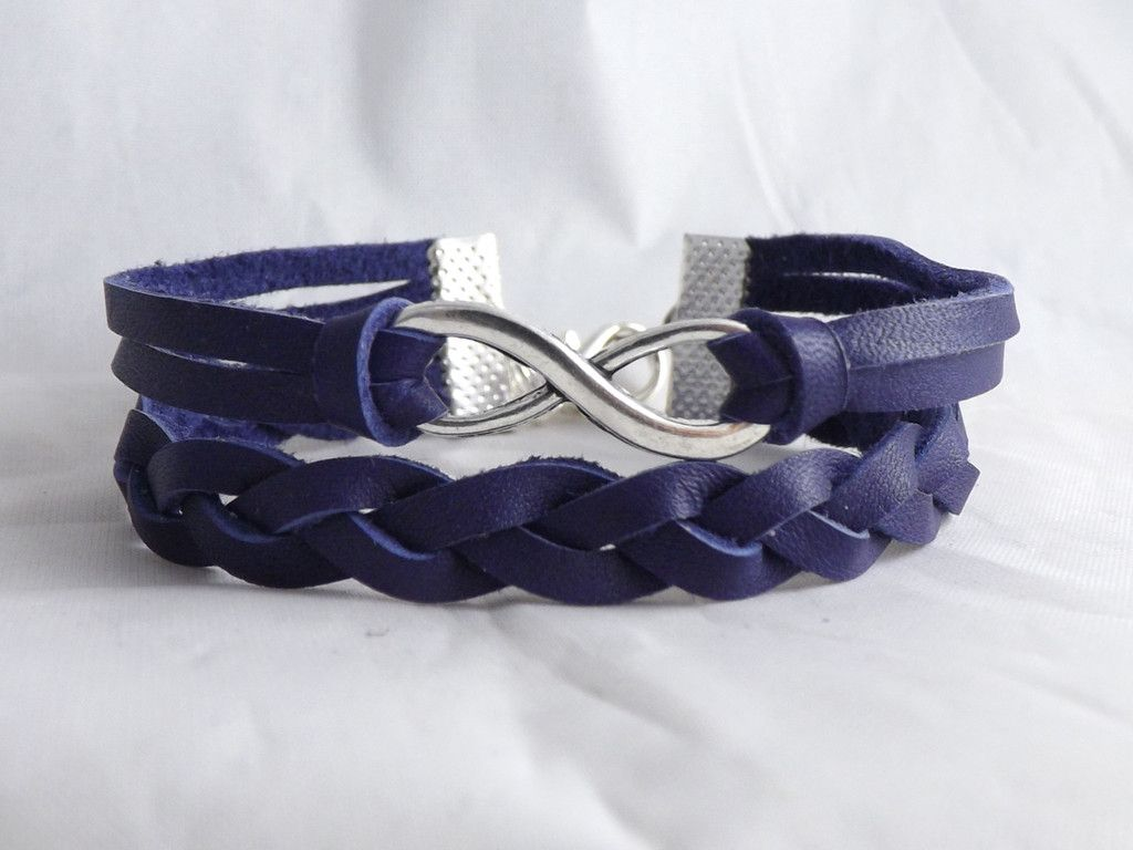 Genuine Leather Deerhide Bracelet for Men & Women... Now available in purple and pink! Still available in black, brown, teal and beige.