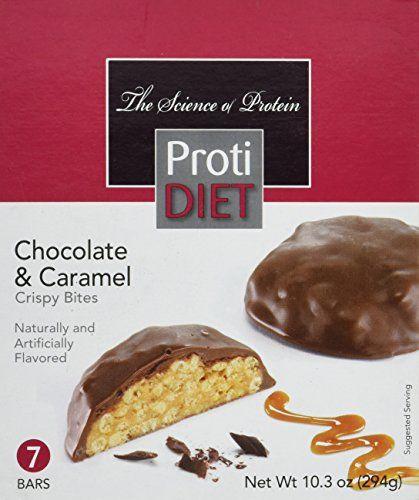Proti Diet Chocolate Caramel Crispy Bites 7 Bars 10 3 Oz High Protein Low Calorie 12 Grams Of Protei Chocolate Diet Chocolate Caramel Delicious Chocolate